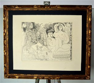 Pablo Picasso. , Etching, hand signed .56, 2 x 45, 4 cm