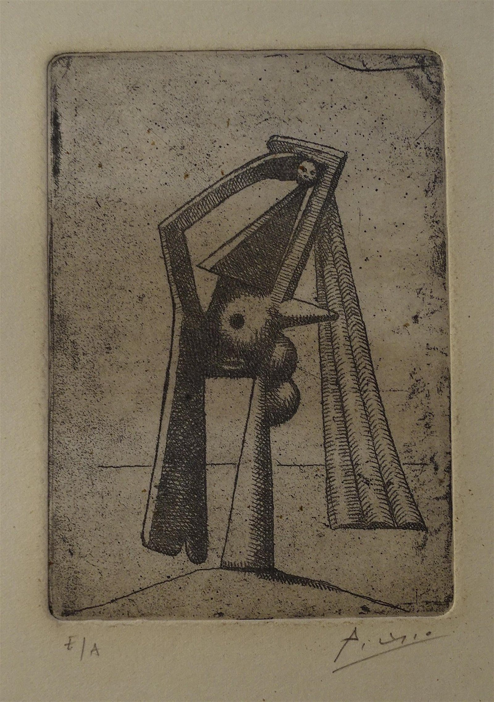 Pablo Picasso, gravure, hand signed