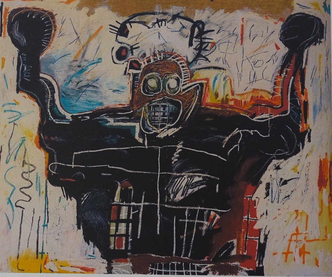 JEAN-MICHEL BASQUIAT PLATE SIGNED AND HAND NUMBERED