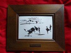 Pablo Picasso - Bullfighting - Enamel