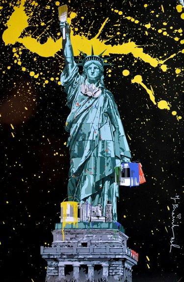 Mr Brainwash LIBERTY NY Icon 2010 NY Show, Poster
