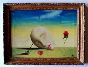 Salvador Dali, oil on canvas handmad