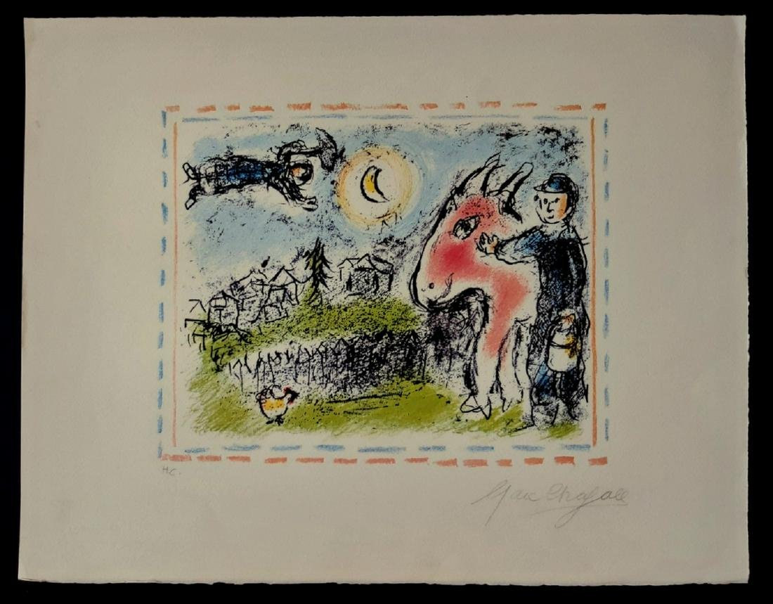 Marc Chagall lithograph signed