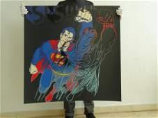 Andy Warhol Superman diamond dust
