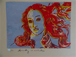 Andy Warhol, gravure, hand signed