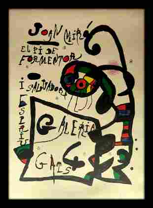 Joan Miro, Lithograph, hand signed and certified