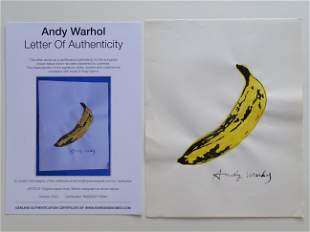Andy Warhol, ink drawing, hand signed