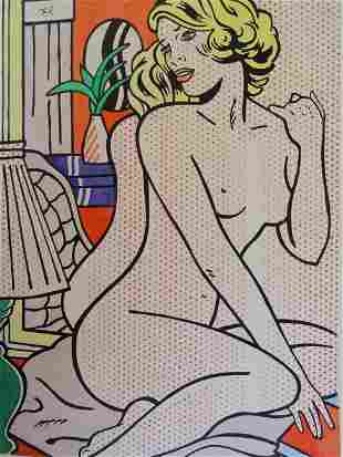 Roy Lichtenstein, ink drawing, hand signed