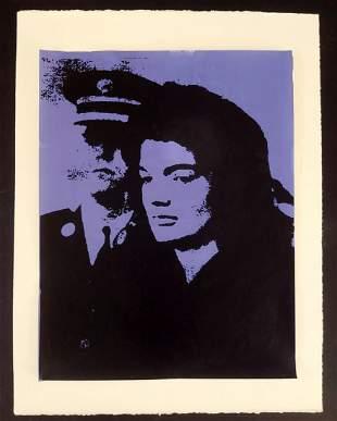 Andy Warhol, screen print poster , 54 x 41 cm