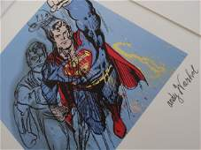 ANDY WARHOL, SUPERMAN, SIGNED, NUMBERED