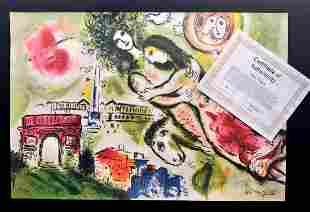 Marc Chagall lithograph, 85 x 62 cm, certified