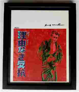 Andy Warhol Original hand signed print with certificate