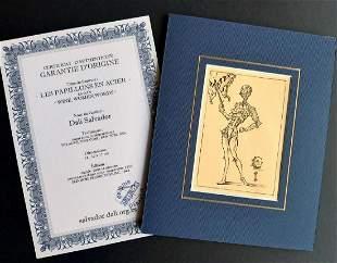 Salvador Dali, Litografia signed , COA