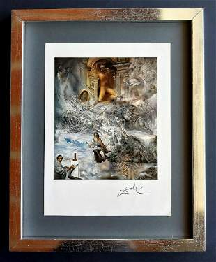 Salvador Dali, original 1974, print with Gallery