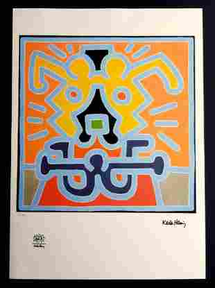 KEITH HARING, Untitled signed lithograph limited ,70