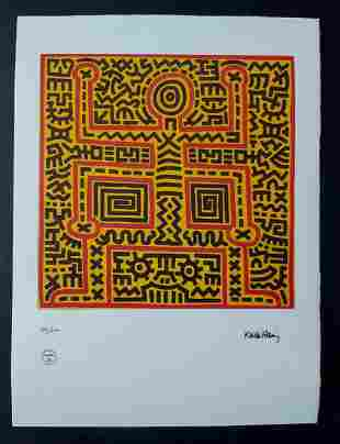 Keith Haring, Lithograph signed in plate