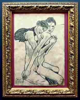 Egon Schiele. Drawing