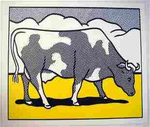 3 X Roy Lichtenstein Cartel triptychon, Cow van abstra