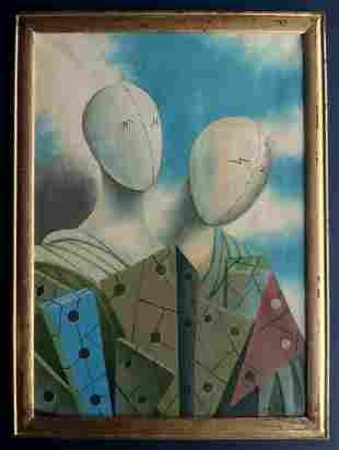 Giorgio de Chirico, oil on canvas handmade, signed.