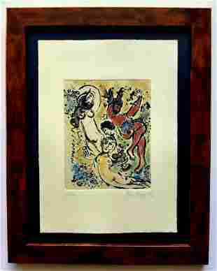 Marc Chagall etching, Hand Signed in Pencil