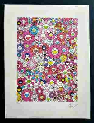 Murakami Takashi , Lithograph, certificate