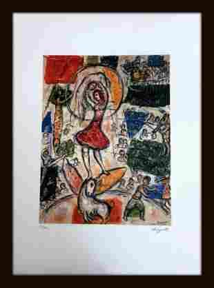 Chagall Marc, 50x70 cm, pencil signature, certificate