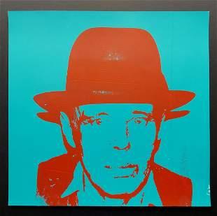 Andy Warhol , Josep Beuys , screen print Vintage