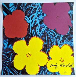 Andy Warhol Lithograph ,2400 edition, CMOA cm 60x60