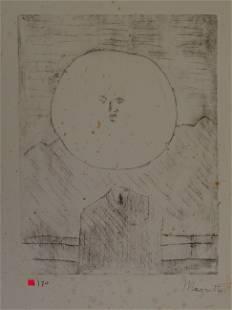 Rene Magritte, gravure, hand signed