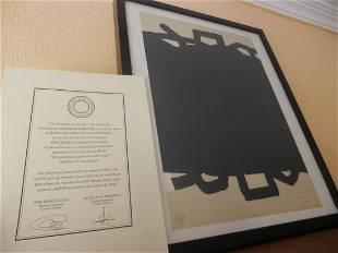 EDUARDO CHILLIDA + COA, 1999, Signed, Lithograph