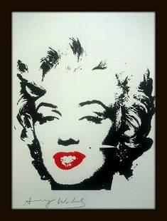 Andy Warhol, Pop Art Limited edition silkscreen,signed.