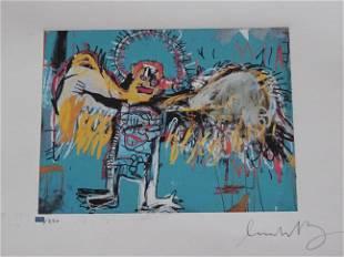 Jean-Michel Basquiat, gravure, hand signed
