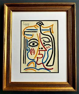 Pablo Picasso, drawing on paper signed