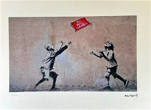 Banksy lithograph , certificate