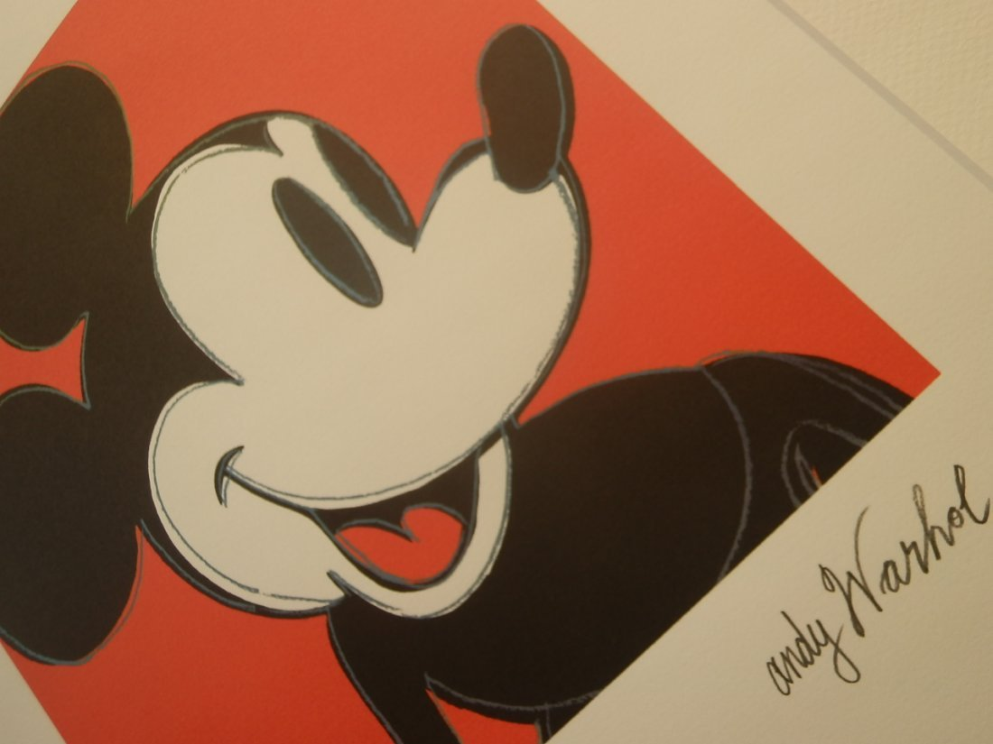 ANDY WARHOL MICKEY MOUSE SIGNED + HAND NUMBERED