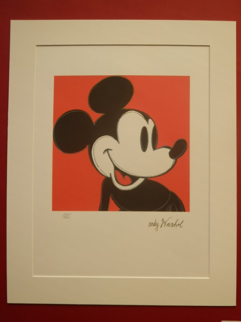 ANDY WARHOL MICKEY MOUSE SIGNED + HAND NUMBERED - 2