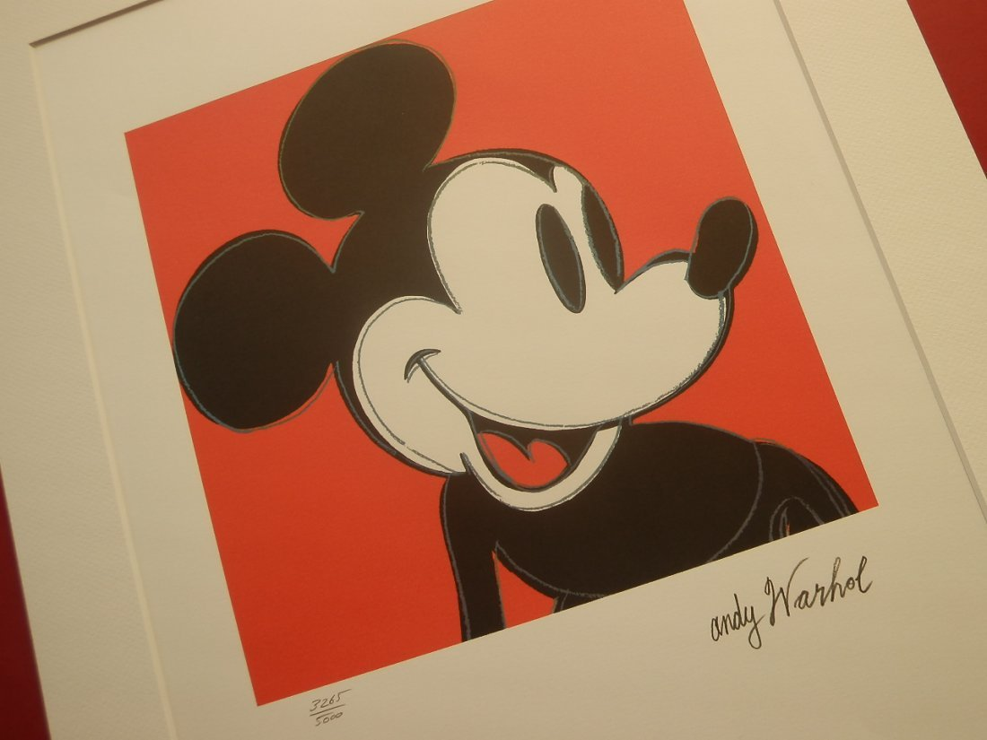 ANDY WARHOL MICKEY MOUSE SIGNED + HAND NUMBERED - 3
