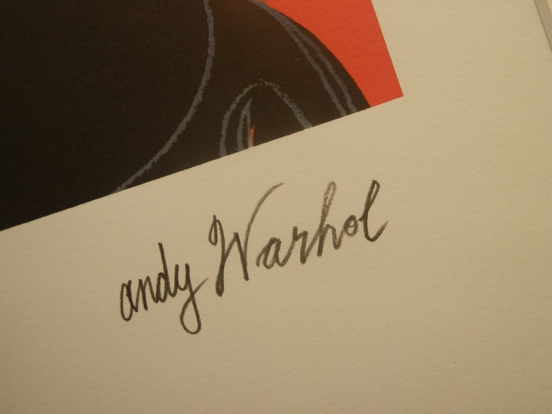 ANDY WARHOL MICKEY MOUSE SIGNED + HAND NUMBERED - 5