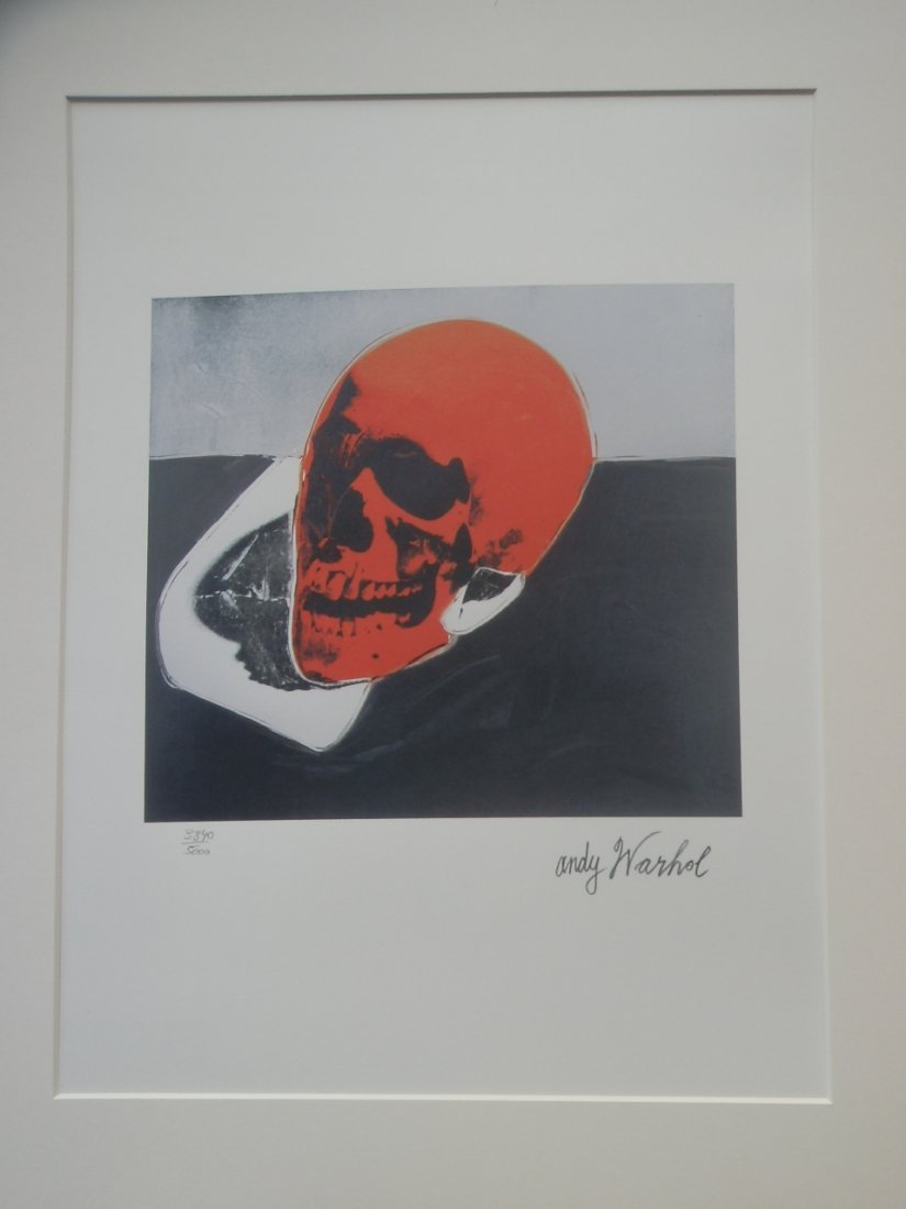 ANDY WARHO SKULL SIGNED + HAND NUMBERED