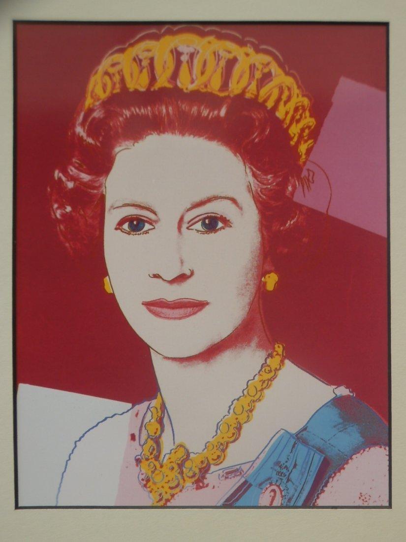 ANDY WARHOL SERIGRAPHY Queen Elizabeth The Queen Mother