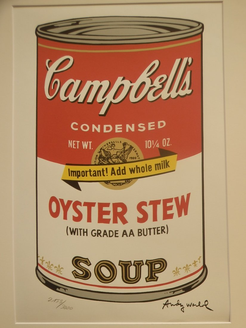 Andy Warhol Campbell tomato Soup Signed + Hand numbered