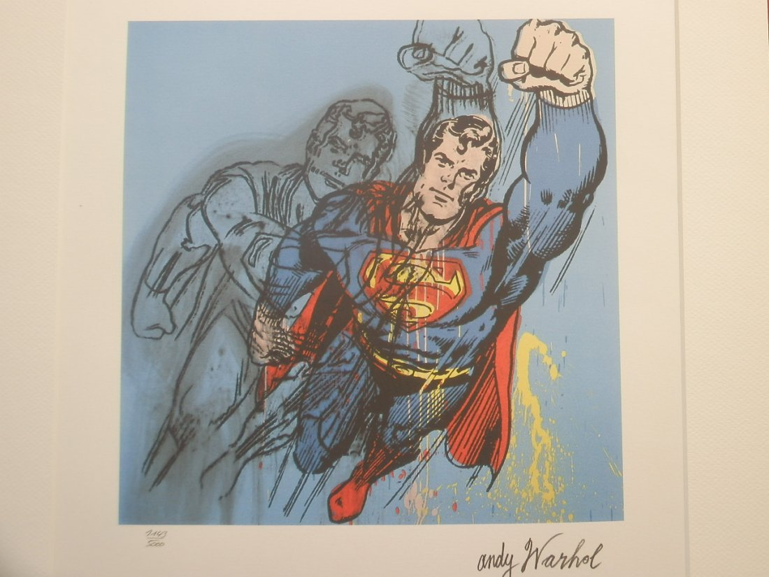 Andy Warhol Superman Signed + Hand numbered