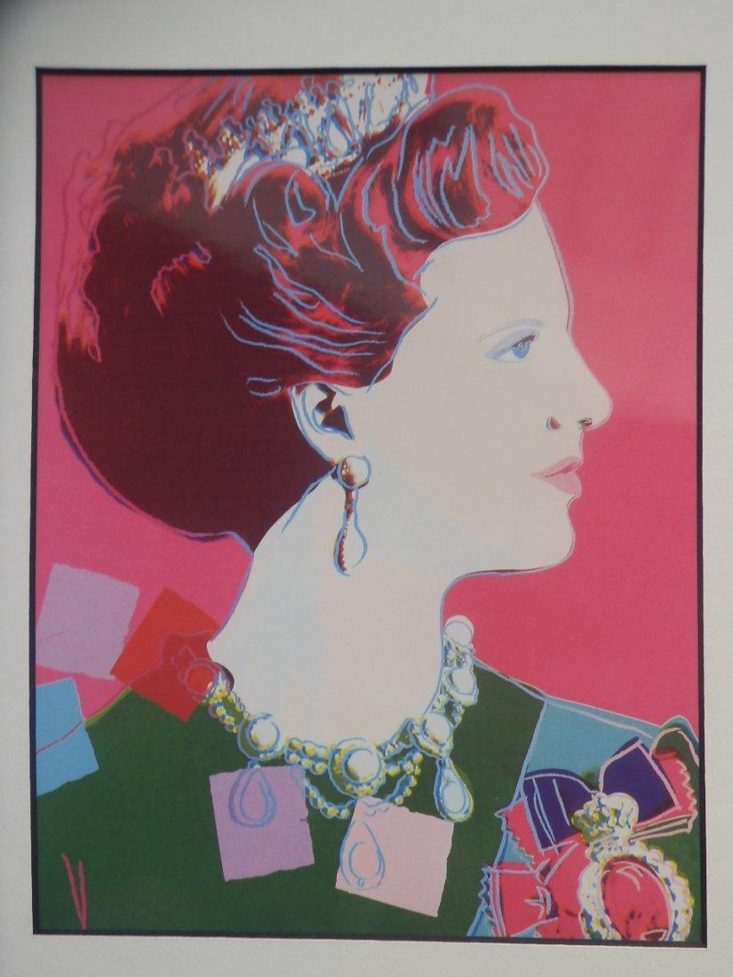 Andy Warhol Queen Margrethe  Origina Serigraphy