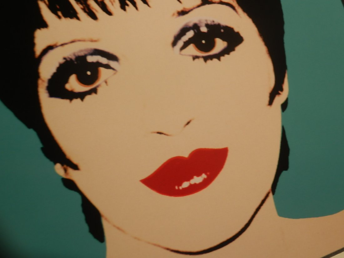 ANDY WARHOL SERIGRAPHY Lizza Minnelly