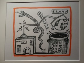 Keith Haring Lithograph, Limited