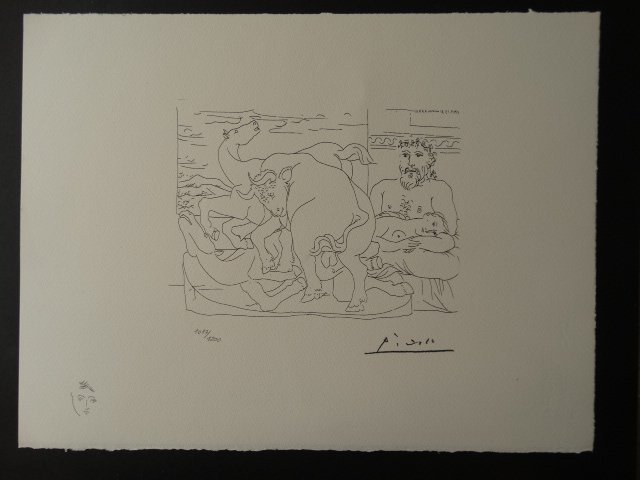 PABLO PICASSO, SPADEM, PLATE SIGNED AND HAND NUMBERED