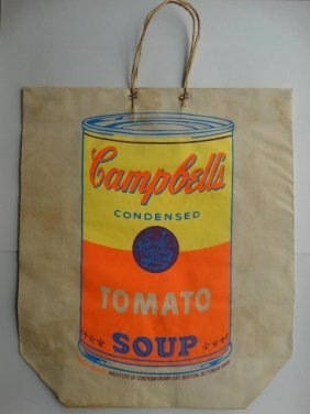 Andy Warhol Campbells Soup Can Bag Screen Print, 1966