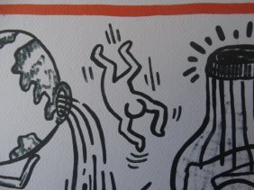 Keith Haring Lithograph, Limited Ed. 1990