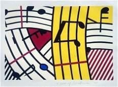 ROY LICHTENSTEIN MUSICAL NOTES SCREENPRINT 1995