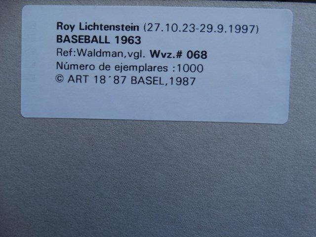 ROY LICHTENSTEIN 1987 - 2